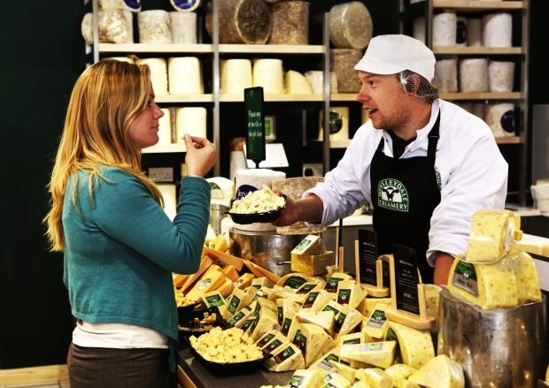 wensleydale cheese shop tasting